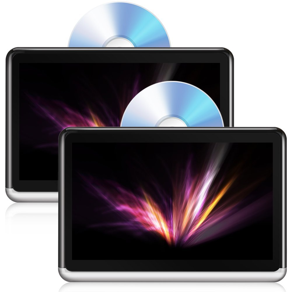 DDAUTO DDA10D Dual Screen Tablet Android 6.0 Portable DVD Player ...